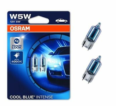5 Pack Blue Led (Osram W5W HALOGEN Cool Blue INTENSE Standlicht 2er Set 4000K)