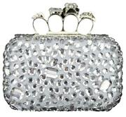 Designer Silver Clutch Bag