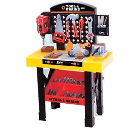 Kids Toy Workbench and Toolset, with working drill