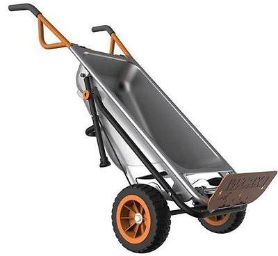 WORX WG050 Aerocart 8-in-1 2-Wheel Wheelbarrow/Garden Cart/