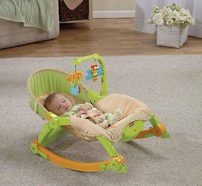 Fisher Price Newborn Toddler Bouncer Portable Baby Rocker Vibrating Swing Seat