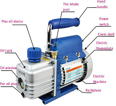 Vacuum Pump 2 Cfm 1 Stage Voltage 220 V 50 Hz New Best Price Top-grade