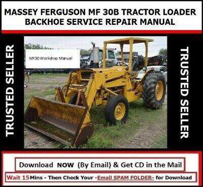Massey Ferguson Mf 30b Tractor Loader Backhoe Service Repair Manual Cd