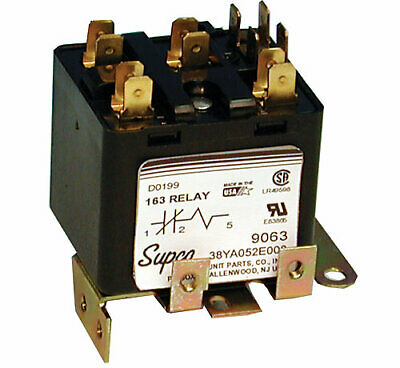 Supco 9063 Potential Relay 168 Continuous Coil Voltage