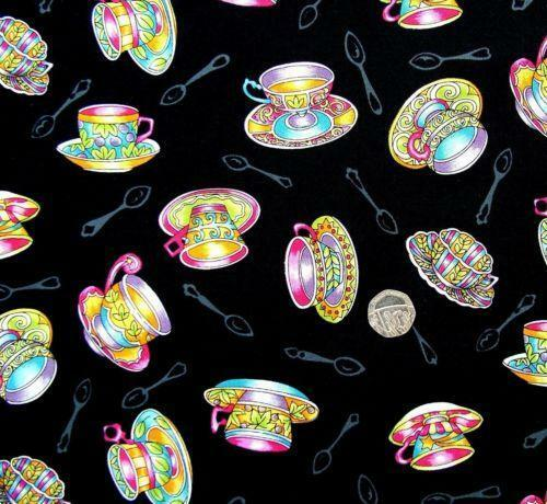Teacup Fabric Ebay