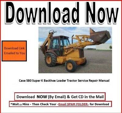 Case 580 Super K Backhoe Loader Tractor Manual Set - 3 Manauls