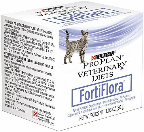 FortiFlora Cat Nutritional Supplements 2 boxes/60 sachets