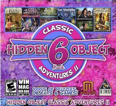 Computer Games - Classic Hidden Object Adventures II PC Games Windows 10 8 7 XP Computer Games