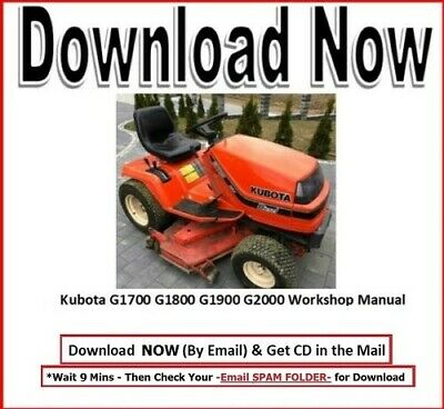 Kubota G1700 G1800 G1900 G2000 Lawn Garden Tractor Workshop Maint Manual