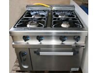 Immaculate Hobart Commercial Gas Hob and Oven **Reduced Price for quick sale**