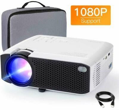 APEMAN LC350 4500 Lumens Mini Video Portable LCD Projector Dual Speaker
