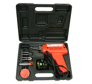 100-WATT-ELECTRIC-SOLDERING-GUN-IRON-KIT-3-TIPS-CASE-100W-SOLDER-240V
