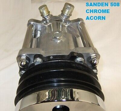 SANDEN 508 A/C COMPRESSOR FILL - IN SPACER SET-   CHROME ACORN  YOUR CHOICE