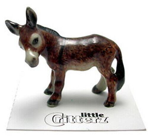 ➸ LITTLE CRITTERZ Farm Field Animal Miniature Figurine Burro Jack
