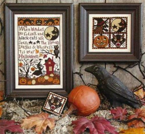 When Witches Go Riding by Prairie Schooler cross stitch pattern