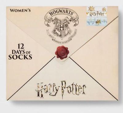 WOMEN'S HARRY POTTER 12 Days of Socks LETTER Advent Calendar NEW NWT Free Ship!