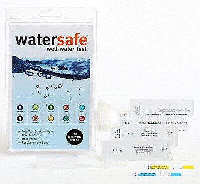 WaterSafe All-In-One WELL WATER Bacteria Lead Pesticides Test Testing Kit
