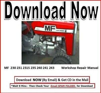 Massey Ferguson Tractors Service Manual Repair 230 231 231s 235 240 241 243 253