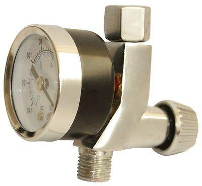 2K Paint Spray Gun Mini Tool Air Flow Regulator Gauge Adjustable Dial 1/4