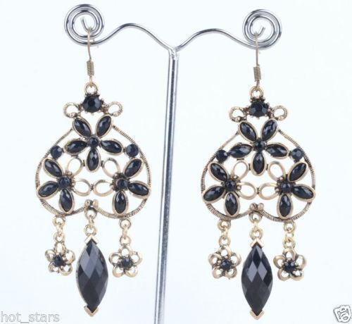 vintage turquoise gold earrings ebay. Black Bedroom Furniture Sets. Home Design Ideas