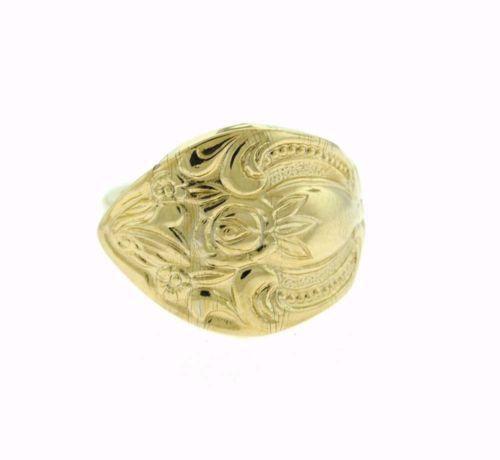 gold spoon ring ebay