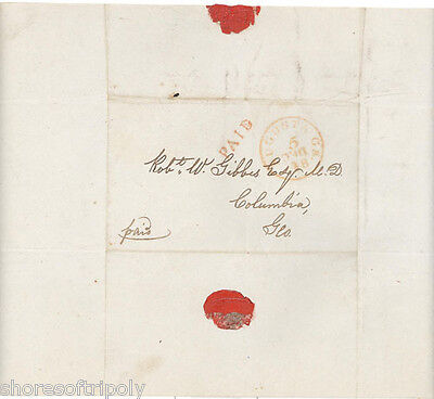 ORiGINAL 1847 HANDWRITTEN LETTER  ~ MUMMY~ SLAVE TYPES Of MANKIND GA ~ EGYPTIAN
