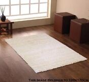Large Plain Cream Rug