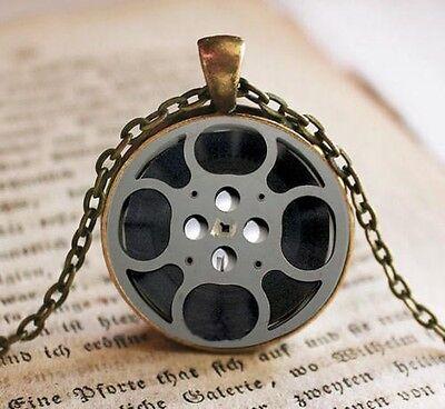 New arrival Vintage Film strip Cabochon Photo Glass Chain Pendant Necklace