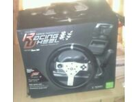 Force feed back racing wheel and pedals for xbox 360