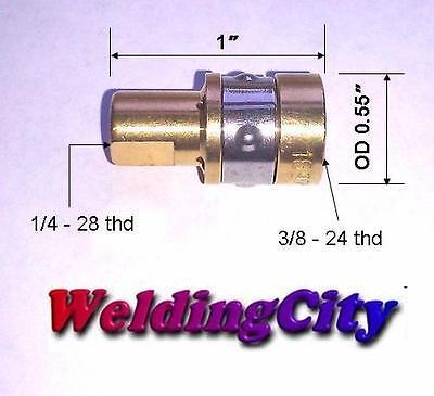 2 Gas Diffuser Tip Adapters 169-716 169716 Miller M-1015 Hobart Mig Welding Gun