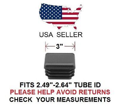 3 Inch Square Tubing Plugend Cap 3 Quantity 8