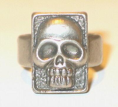 The Phantom Movie Promo Metal Skull Ring, 1996 MINT UNUSED