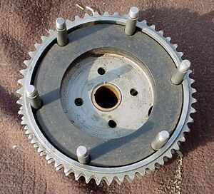 Antique Indian Scout motorcycle clutch drum and plates