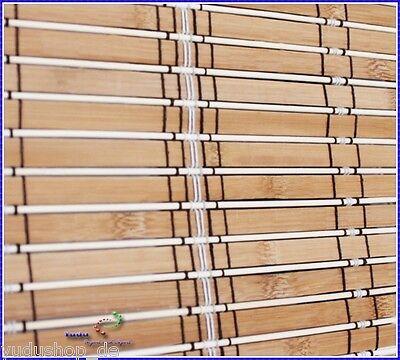Rollo Raffrollo Faltbehang Sonnenschutz Bambus Holz