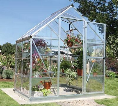 PALRAM HARMONY SILVER GREENHOUSE WALK-IN ALUMINIUM AND POLYCARBONATE IN 4 SIZES