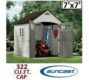 NEW SUNCAST STORAGE SHED 7'x7' - 118723124 - 322 cubic feet capacity -  Outdoor Storage Sheds - ORGANIZATION