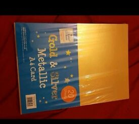 Metallic A4 Card Gold & Silver 20 Sheets