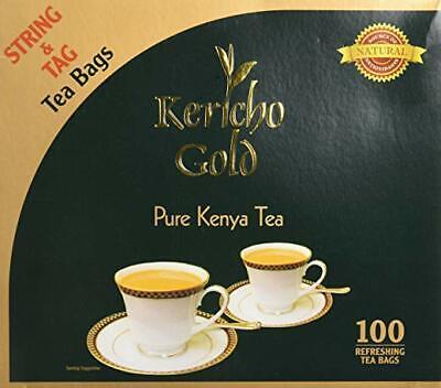 Gold Pure Tea - Tea Bags Kericho Gold Pure Kenya Tea 100 string tea bags quality tea natural