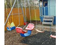Triple swingset