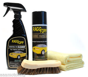 raggtopp fabric convertible top cleaner protectant kit clean protect car auto ebay. Black Bedroom Furniture Sets. Home Design Ideas
