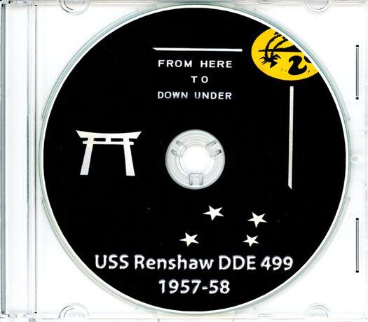 USS Renshaw DDE 499 Westpac and Australia CRUISE BOOK Log 1957 - 1958  CD