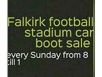 Falkirk footbal stadium car boot sale every Sunday from 8 till 1