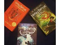 1st three Harry Potter Books