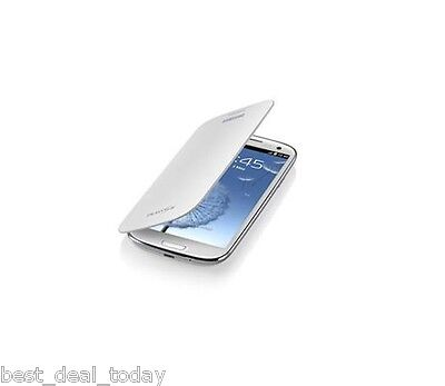 Samsung Galaxy S Iii 3 S3 Flip Cover Pouch Case Marble Wh...