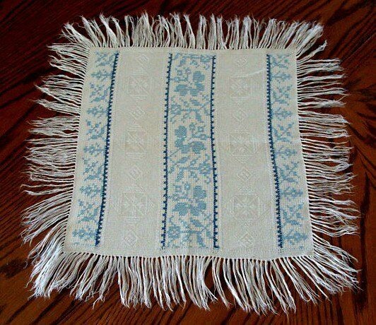 "12 AMAZING Antique French METIS Linen Damask Napkins 17""  FRINGE PRISTINE"