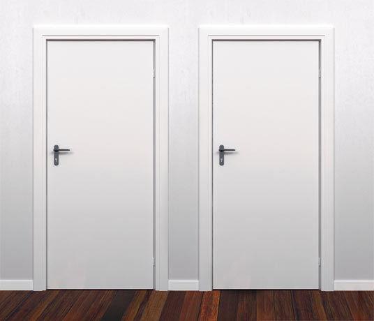 Flush solid core primed hardboard interior wood doors 6 for Flush interior wood doors