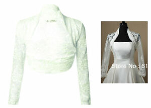 Stretch Lace Bolero Crop Jacket Shrug Wrap for Bride etc. - New