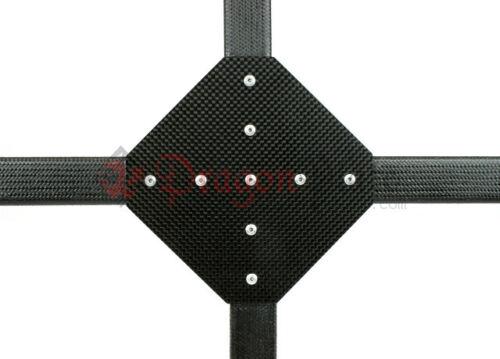 """Dragonplate 1"""" Square Tube Carbon Fiber Gusset 90 Degree Cross - FDPGK-S*1-CROSS"""
