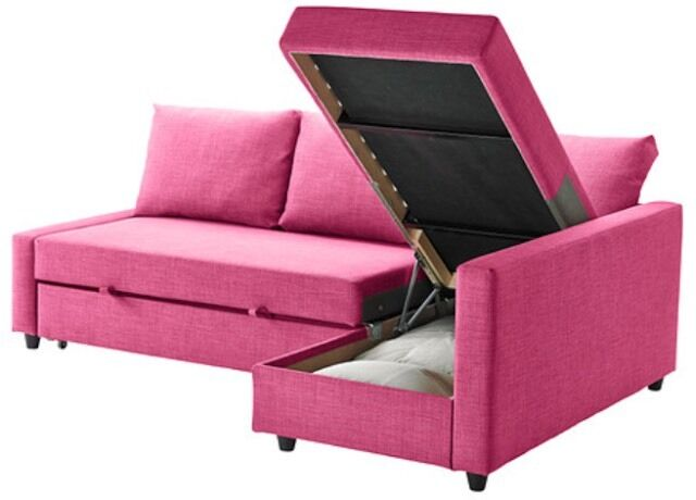 Pink ikea l shape sofa bed 125 in frimley surrey gumtree - Patas para sofas ikea ...