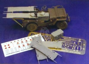 Resicast 1/35 British Airborne Jeep RAMC Medical Conversion Set (Bronco) 351148A